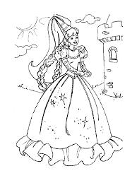 coloriage de princesse à imprimer