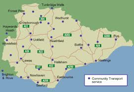 map of east uk find community transport east sussex county council