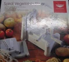 paderno cuisine spiral vegetable slicer paderno cuisine spiral vegetable slicer ebay