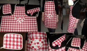 couture tablier de cuisine un ensemble de cuisine l instant pearl couture et créations
