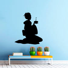 online get cheap japan home interior aliexpress com alibaba group japan geisha girl tea ceremony wall decal japanese home decor oriental woman vinyl wall sticker bedroom interior art