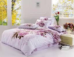 Cheap King Size Duvet Sets New King Size Bedding Set Purple Floral Quilt Cover Bed Sheet Set