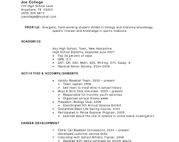 resume for highschool students going to college how to write a resume for highschool students going college
