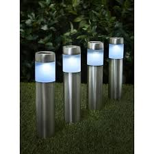 wilko garden solar lighting posts 4pk at wilko