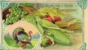 vintage thanksgiving postcards turkey day farm box spring street farm project