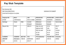 5 free fake pay stub template securitas paystub