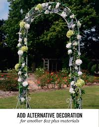wedding arches decorated with flowers wedding rentals