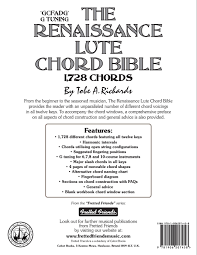 amazon com the renaissance lute chord bible g tuning 1 728