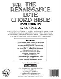 amazon com the renaissance lute chord bible g tuning 1 728