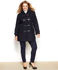michael michael kors plus size hooded toggle coat coats plus