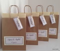 gift bags for weddings brown luxury personalised paper wedding favour party gift bag ebay