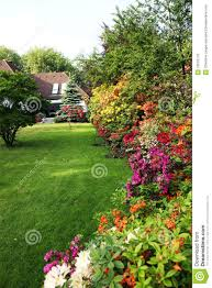 house with flower garden royalty free stock photos image 19510718