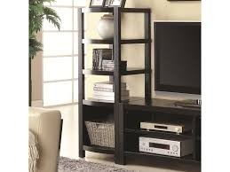 coaster entertainment units curved front media tower furniture