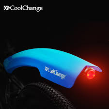 bicycle rear fender light coolchange cycling mtb road bike fixie front rear fender with light