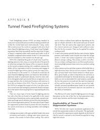 appendix b tunnel fixed firefighting systems guidelines for