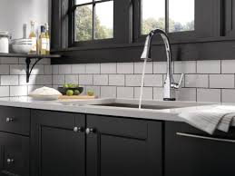 touch technology kitchen faucet delta mateo pull down touch single handle kitchen faucet with and