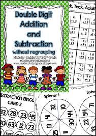 99 best double digit addition subtraction images on pinterest