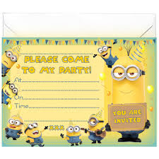 minion party invitations birthday cards on line