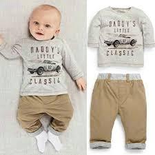 2pcs kid children baby boy sleeve top set