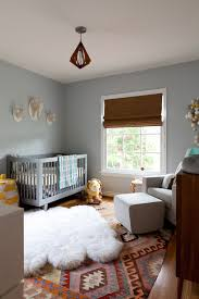 fluffy rug nursery contemporary with animal brown roman shade faux