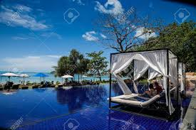 thailand beautiful infinity pool in a resort stock photo picture thailand beautiful infinity pool in a resort stock photo 31187855