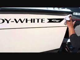 grady white hull restoration youtube