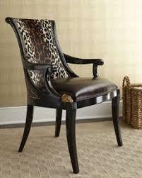 Zebra Print Accent Chair Maitland Smith 4130 771 Aubergine Armchair Leopard Hair Hide