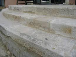 antique limestone steps