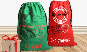santa sacks personalized santa sacks monogram online groupon