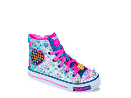 high top light up shoes skechers twinkle toes shuffles giggle up youth light up