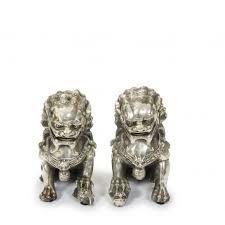 foo dog lion brass foo dog guardian lion orchid