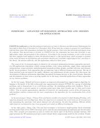 foreword u2013 advanced optimization approaches and modern or