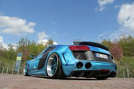 wrapped r8 riced out r8 performance u0027s u0027650 u0027 horsepower widebody blue