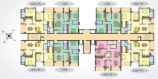 Centre Bell Floor Plan 2 Bhk 3 Bhk Apartments For Sale In Olarikara Neighborhood Of