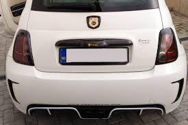 Fiat 500 Abarth White Koshi Llc Carbon Fiber Abarth 500 Central Exhaust Diffuser