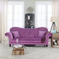 Tufted Upholstered Sofa by Amazon Com Classic Tufted Velvet Victorian Sofa Purple Kitchen
