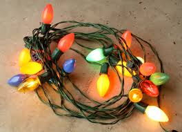 20 ft strand of vintage large bulb tree lights i