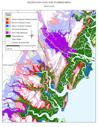 Savannah Georgia Map Sea Level Rise Planning Maps Likelihood Of Shore Protection In
