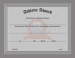 28 images of sports academic achievement certificate template