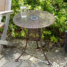 Led Bistro Table Bronze Effect Solar Powered Bistro Table This Is It Stores Uk
