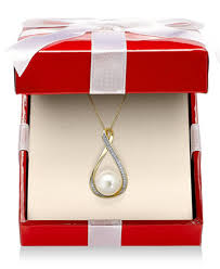 freshwater pearl necklace pendant images Cultured freshwater pearl 9mm and diamond accent pendant 18 tif