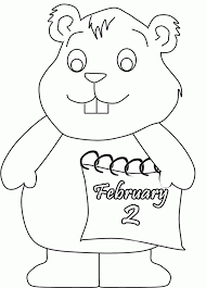 groundhog coloring pages kids kids coloring