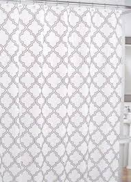 cynthia rowley moroccan tile quatrefoil grey on white fabric