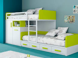 Awesome Kids Bedrooms Kids Beds With Storage For A Tidy Room Extraordinary White Green