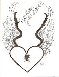 perfect heart with wings tattoo drawing for boys picsmine