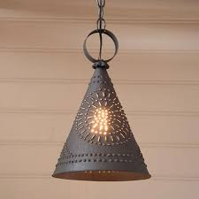 Punched Tin Pendant Light Pendant Lights Allysons Place