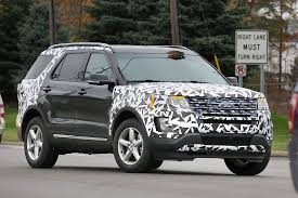 ford crossover 2016 2016 ford explorer spied partially camouflaged autoevolution