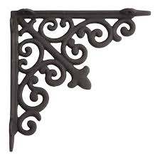 filigree cast iron shelf bracket hardware