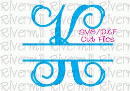 Letter Monogram Svg Dxf Split Letter Monogram Cut Files 26 Letters