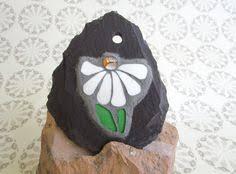 mosaic flower on slate gift idea small garden ornament